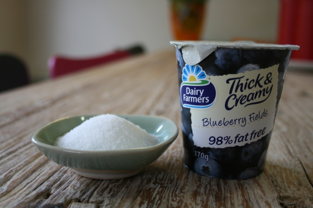 low fat - high sugar (27grams on the whole tub - some will be naturally occurring milk sugars)