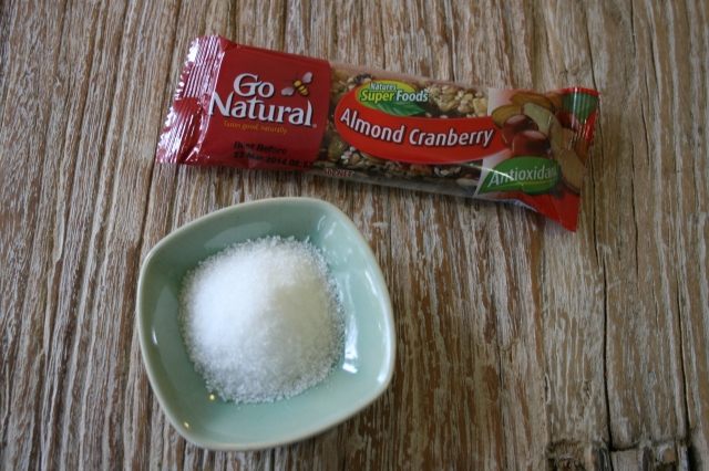 A quick snack when you are on the run, with a generous 14.5g of sugar.