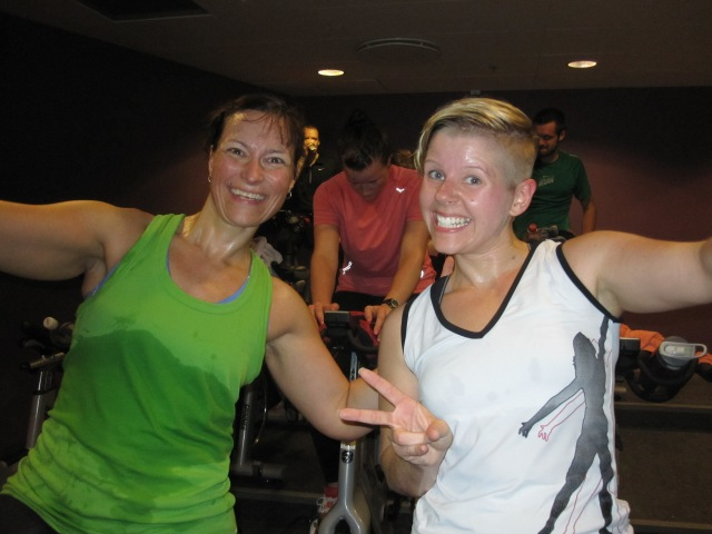 Spinning is one of my favourites - here with Linn <3